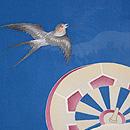 大波に片輪車と燕の単衣羽織 質感・風合