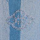 大波に片輪車と燕の単衣羽織 背紋