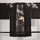 竹林に虎の図絽ちりめん単衣羽織 正面