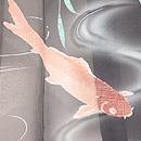 柳に流水と鯉の紋紗単衣羽織 質感・風合