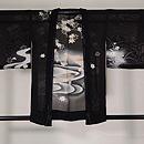 青楓に池の鯉文様単衣羽織 正面