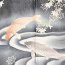 青楓に池の鯉文様単衣羽織 質感・風合