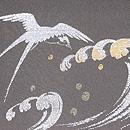 波に遊ぶツバメ文様単衣羽織 質感・風合