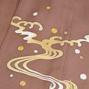 流水に葦の裾模様三つ紋単衣 質感・風合