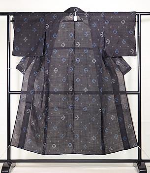 丸紋文様の宮古上布
