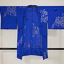 ブルー地花籠にトンボの単衣羽織 正面
