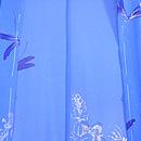 ブルー地花籠にトンボの単衣羽織 羽裏