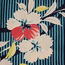 縦縞に花丸文様絽の小紋 質感・風合
