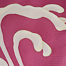 ピンク地波しぶきにトンボの絽小紋 質感・風合
