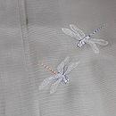 グレー地トンボ刺繍絽の付下 質感・風合