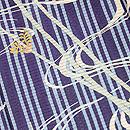 三本縞い草にトンボ絽の付下 質感・風合