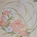 クリーム地花丸紋の絽小紋 質感・風合