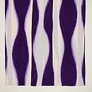 白に紫立湧文様単衣小紋 上前