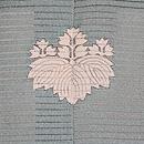 新橋色観世水に蛇籠文様絽色留袖 背紋