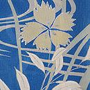 ブルー地芙蓉と秋草の付下 質感・風合