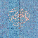 ブルー地芙蓉と秋草の付下 背紋