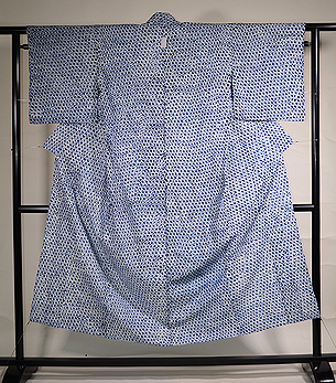 横三浦絞り木綿単衣