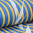 縦黄色縞に笹紋単衣小紋 質感・風合