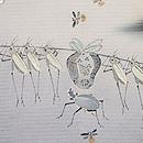 虫の行列文様黒留袖 質感・風合
