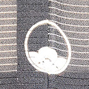 虫の行列文様黒留袖 背紋