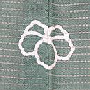 緑地沢鷹にオシドリの色留袖 紋
