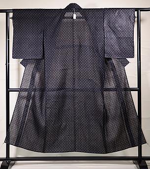 ドット柄の宮古上布