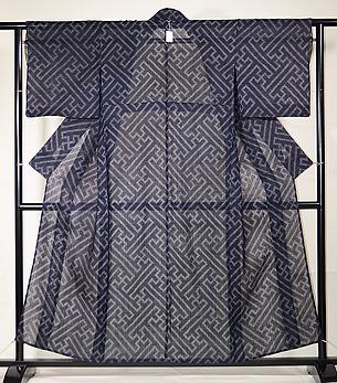 紗綾形文様横絣の宮古上布