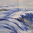 波にカモメ文様単衣羽織 質感・風合