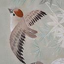 裾暈し竹林に雀の単衣訪問着 質感・風合