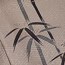 竹に雀文様付下 質感・風合