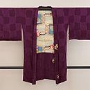 紫地花丸文様刺繍羽織 正面