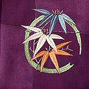 紫地花丸文様刺繍羽織 質感・風合