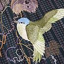 角通し縞に青い鳥の付下 質感・風合