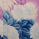 京紫に大輪菊の付下 質感・風合