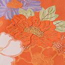 朱色牡丹に菊の付下 質感・風合
