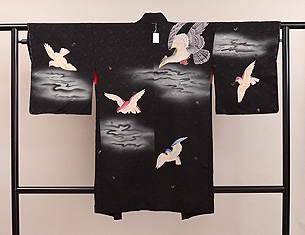 ワシと鳩の羽織