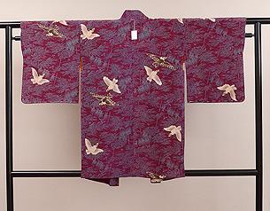 稲穂に雀の羽織