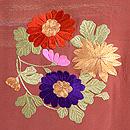 花丸紋の絵羽織 質感・風合