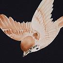 黒地雀の羽織 質感・風合