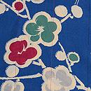 ブルー地梅文様羽織 質感・風合