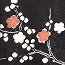 黒地春の花文様絞りの羽織 質感・風合