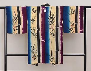 竹林に雀の羽織