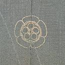 菊梅に檜扇の色留袖 質感・風合