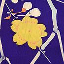紫地桜の小紋 質感・風合