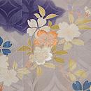 七宝繋ぎに春の花散らし文様訪問着 質感・風合