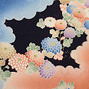 雲文に四季の花文様長羽織 質感・風合