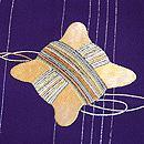 紫地糸巻きの付下 質感・風合