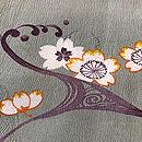 光琳水の桜文様小紋袷 質感・風合