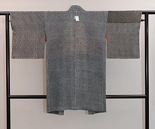 敷き松葉に小花江戸小紋 継ぎ羽織