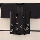 青海波と千鳥、紋錦紗の単衣羽織 正面